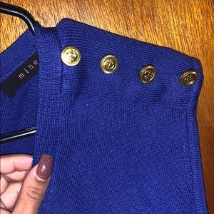 mine Sweaters - Royal blue sweater with gold button detail